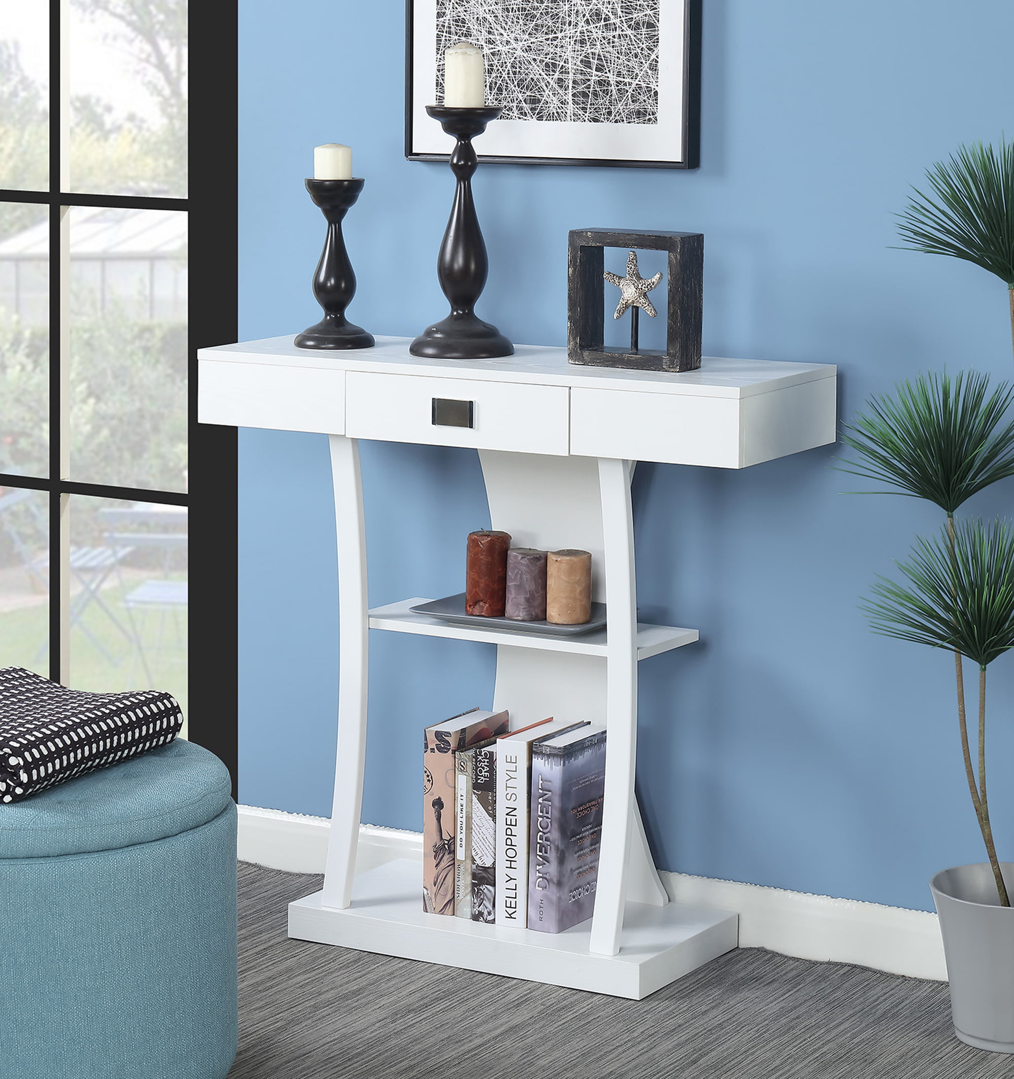 Convenience Concepts Newport Harri Console Table by Convenience Concepts