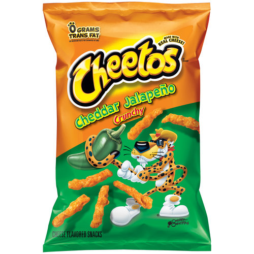 Cheetos Crunchy Cheddar Jalapeno Cheese Flavored Snacks, 9.5 oz