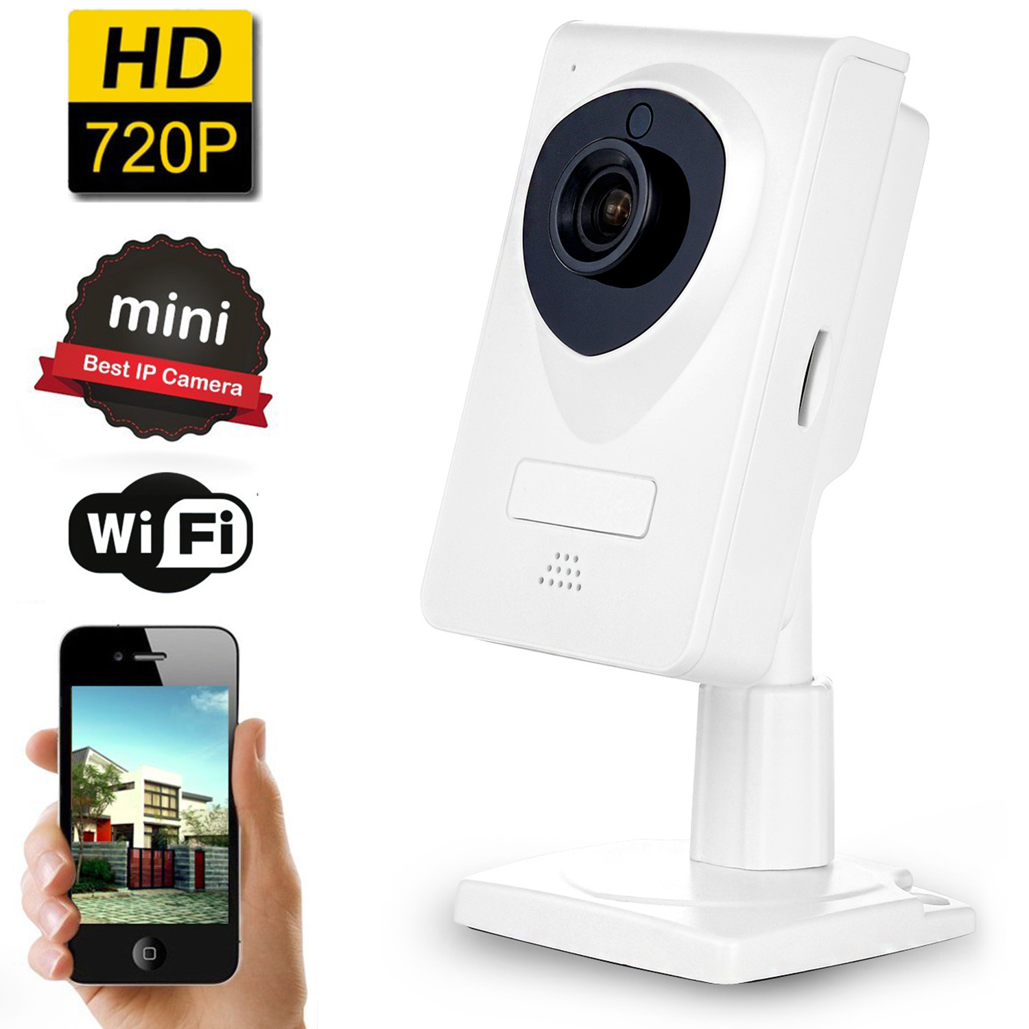AGPtek Wireless Security Camera Monitor Camera Network Surveillance Camera 720P WiFi IP Camera with Night Vision