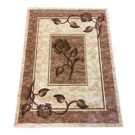 Lyke Home  Rosalie Cream Area Rug  8 X 11