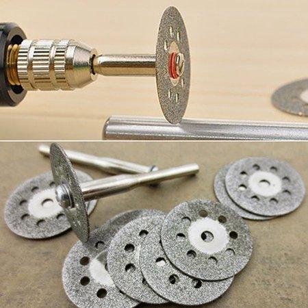 - Obstce 12 Pcs Rotary Tool Circular Saw Blades Cutting Wheel Discs Mandrel Cutoff