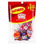 Sathers Rain-Blo Pops 12 pack (2.45 oz per pack) (Pack of 6)