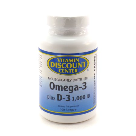 Discount Heart - Omega-3 Plus D-3 1000 iu By Vitamin Discount Center - 100 Softgels