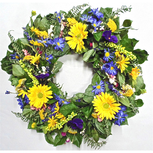 Dried Flowers and Wreaths LLC 22'' Daydream Wreath