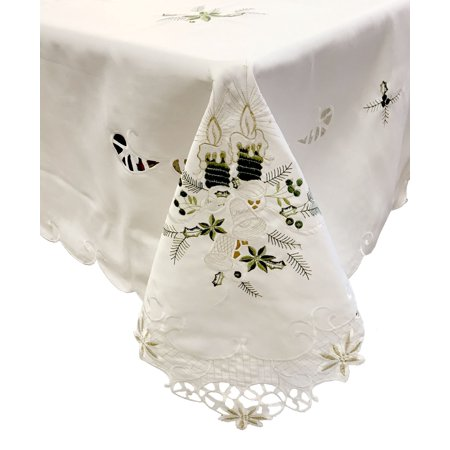 Christmas Tablecloths And Napkins (Lintex Linens Candlelight Holiday Tablecloth 70)