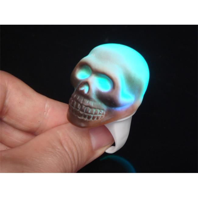 WeGlow International 23PR1 Skull Flashing Ring - Set Of 5