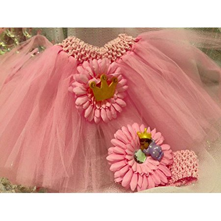 Pink Tutu Diaper Cake Ethnic Princess Theme Baby Shower Decoration