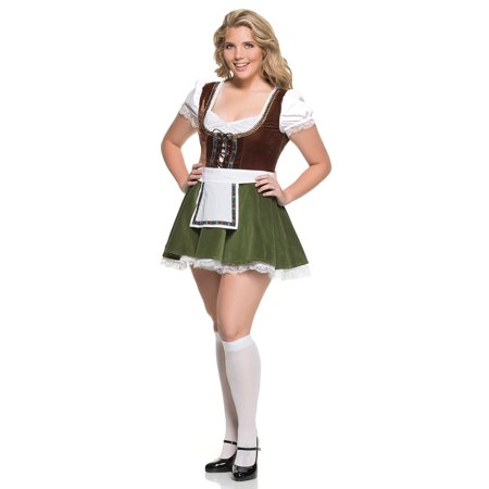 Plus Size Sultry Beer Maiden Costume, Plus Size Bavarian Girl Costume - Beer Girl Costume Plus Size