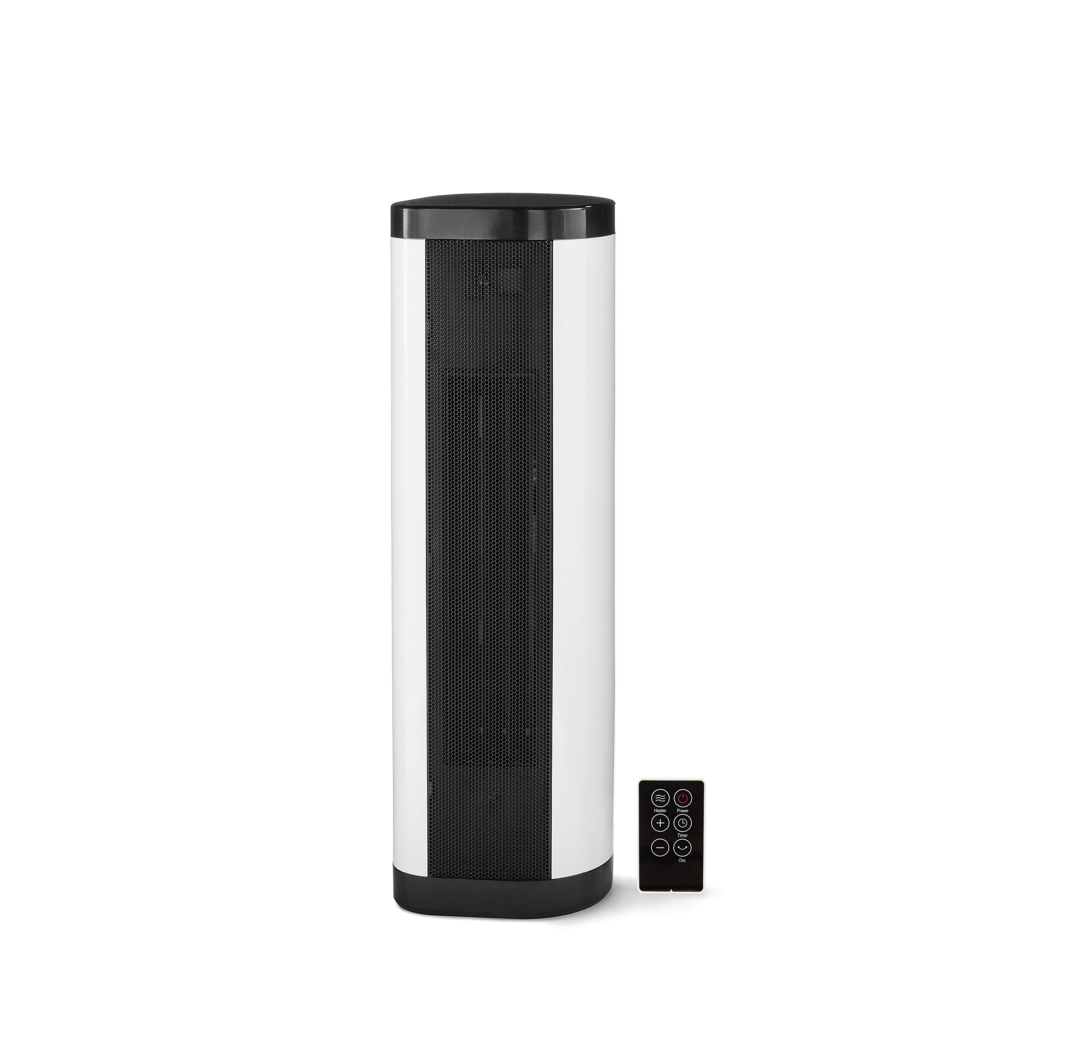 Mainstays Baseboard Tower Heater, Black/White, NTH15-17BR