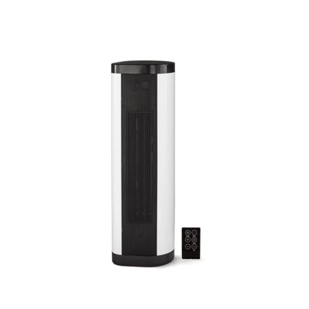 Mainstays Baseboard Tower Heater, Black/White,
