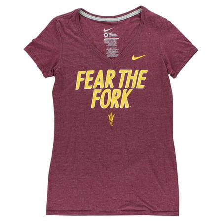 Nike Womens Arizona State Sun Devils College Local T Shirt Burgundy