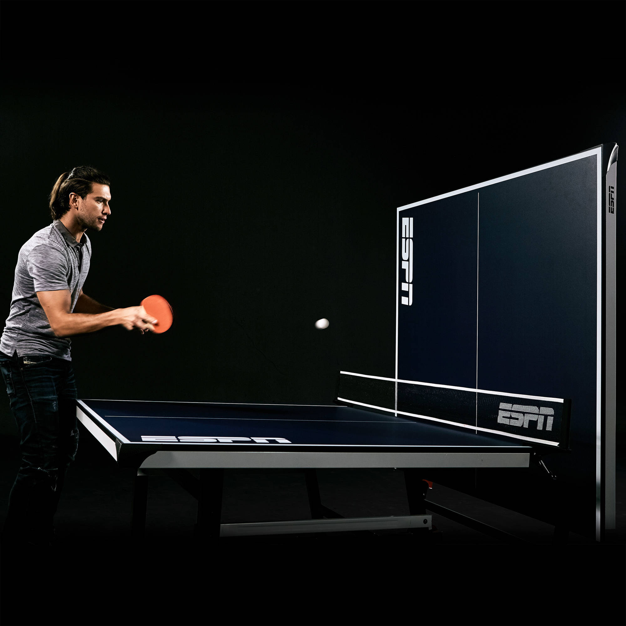 Table tennis table espn ping pong official size foldable for Table tennis 6 0