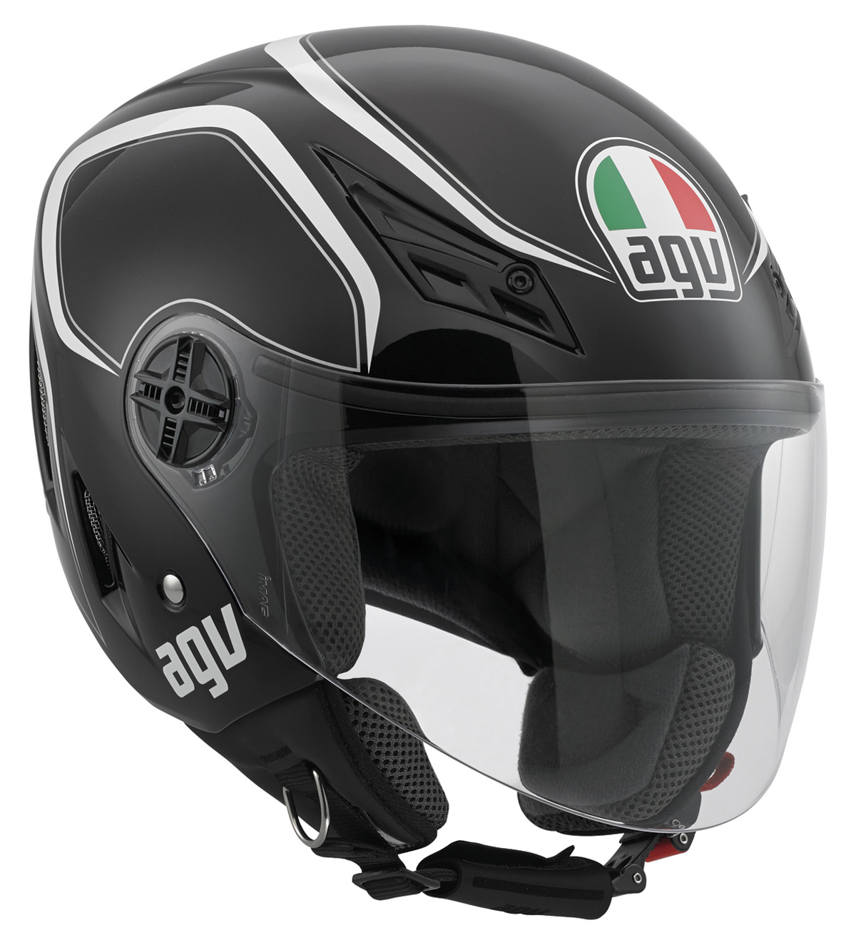 AGV Blade Tab Helmet Black/White MD