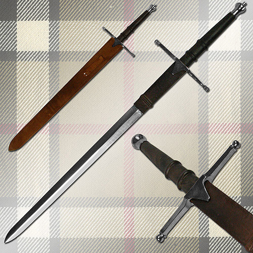 William Wallace Medieval Sword With Sheath Silver