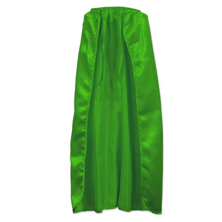 Club Pack of 12 Halloween Green Super Hero Capes 30