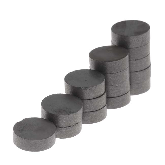 Craft and Hobby Ceramic Disk Disc Magnets 3/8 Inch Diameter (15)