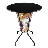 Holland Lighted Indian Motorcycle Pub Table with Black Top