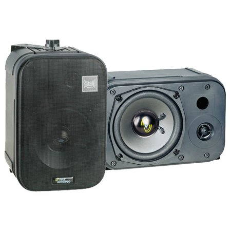 PYLE PDMN48 - 5'' Two-Way Bass Reflex Mini-Monitor & Bookshelf/wall mount Speakers