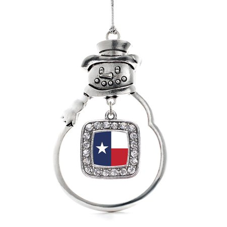 Texas Flag Classic Snowman Holiday Ornament](Texas Snowman)