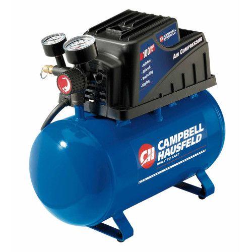 Campbell Hausfeld FP209000AV 2 Gallon 120V 3A .33HP Hot Dog Oilless Air Compressor