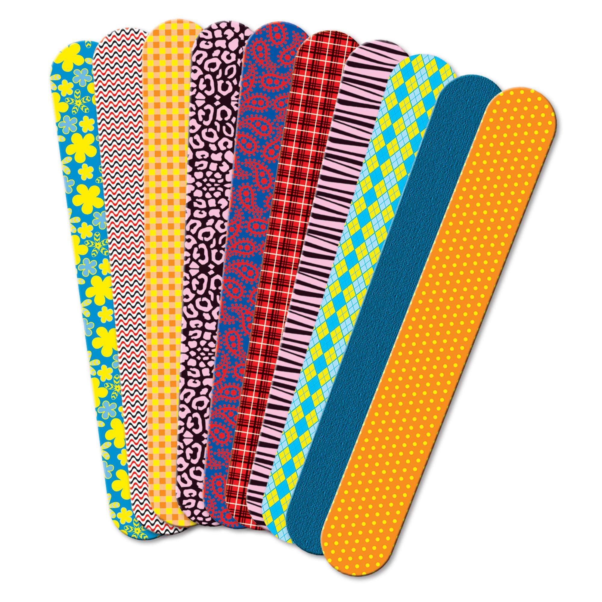 Roylco® Printed Craft Sticks, Fabric Prints, 50 per pack, Set of 6 packs
