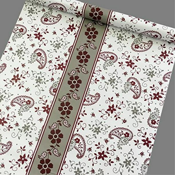 SimpleLife4U Red-Gray Flower Self-Adhesive Shelf Drawer ...
