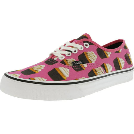 7bcf2f80064344 Vans - Vans Authentic Late Night Hot Pink   Cupcakes Ankle-High Canvas  Skateboarding Shoe - 10M 8.5M - Walmart.com