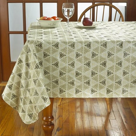 Prism Print Heavyweight Vinyl Tablecloth With Soft Flannel Backing 52 X 70