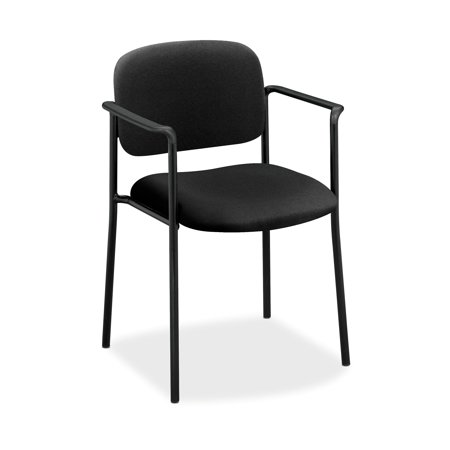 HON Scatter Guest Chair - Upholstered Stacking Chair with Arms, Office Furniture, Black (Stacking Guest Chair)