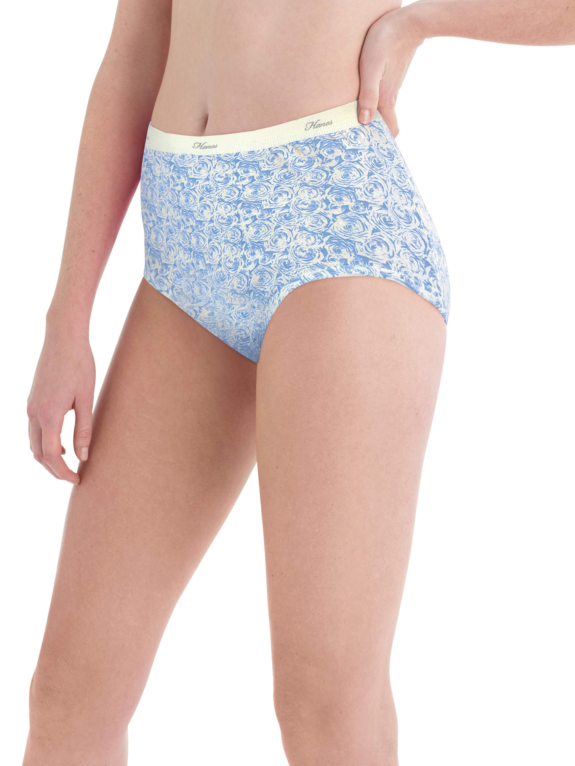 HBselect 6 Pack Ladies Underwear High Waist Full Cotton Briefs Knickers for Womens Multipack