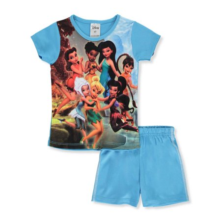 Disney Tinker Bell Girls' 2-Piece Shorts Set Outfit