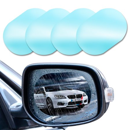 4 PCS Rainproof Car Rear View Mirror Film, TSV Side Mirror Film Drive Safely HD Clear Nano Coating waterproof Films Anti-scratch Protector for SUV Car Mirrors Side Windows, Oval (5.71