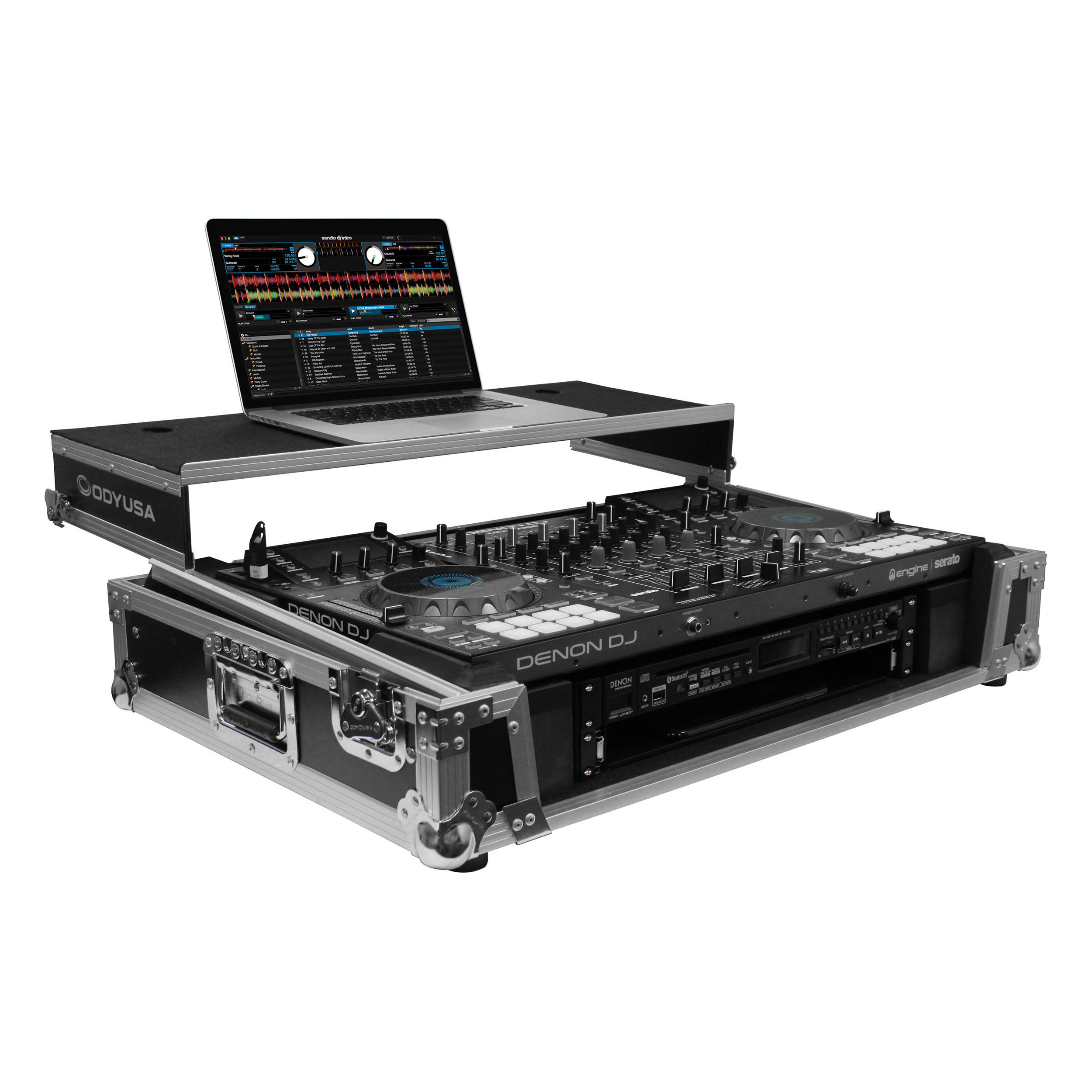 Odyssey FZGSMCX8000W2 | Flight Zone DJ Controller Case for Denon MCX8000
