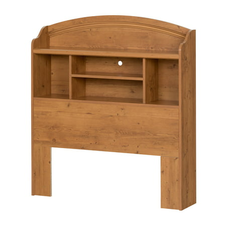 South Shore Prairie Bookcase Headboard, Country Pine