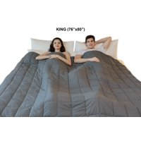 """King Sized Weighted Blanket - Soft Weighted Throw Blanket Heavy Weighted Blanket Cuddle Sensation Blanket (76""""x80"""")"""