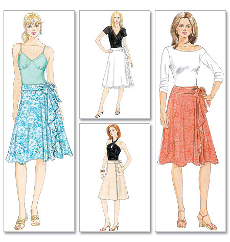 Misses Wrap Skirts Aa 6 8 10 12 Sewing Pattern
