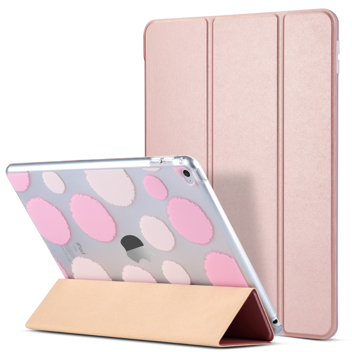 iPad Air 2 Case, ULAK [Polka Dot] Folio Slim Smart Case Cover with Trifold Stand and Magnetic Auto Wake & Sleep Function for iPad Air 2 / iPad 6th Generation