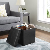 Mainstays Ultra Collapsible Storage Ottoman, Multiple Colors