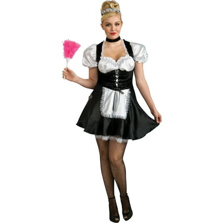 Adult Womens Secret Wishes French Maid Plus Size 14-16 Costume - Plus Size French Maid