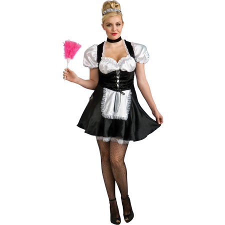 Adult Womens Secret Wishes French Maid Plus Size 14-16 Costume - Maid Costume Plus Size