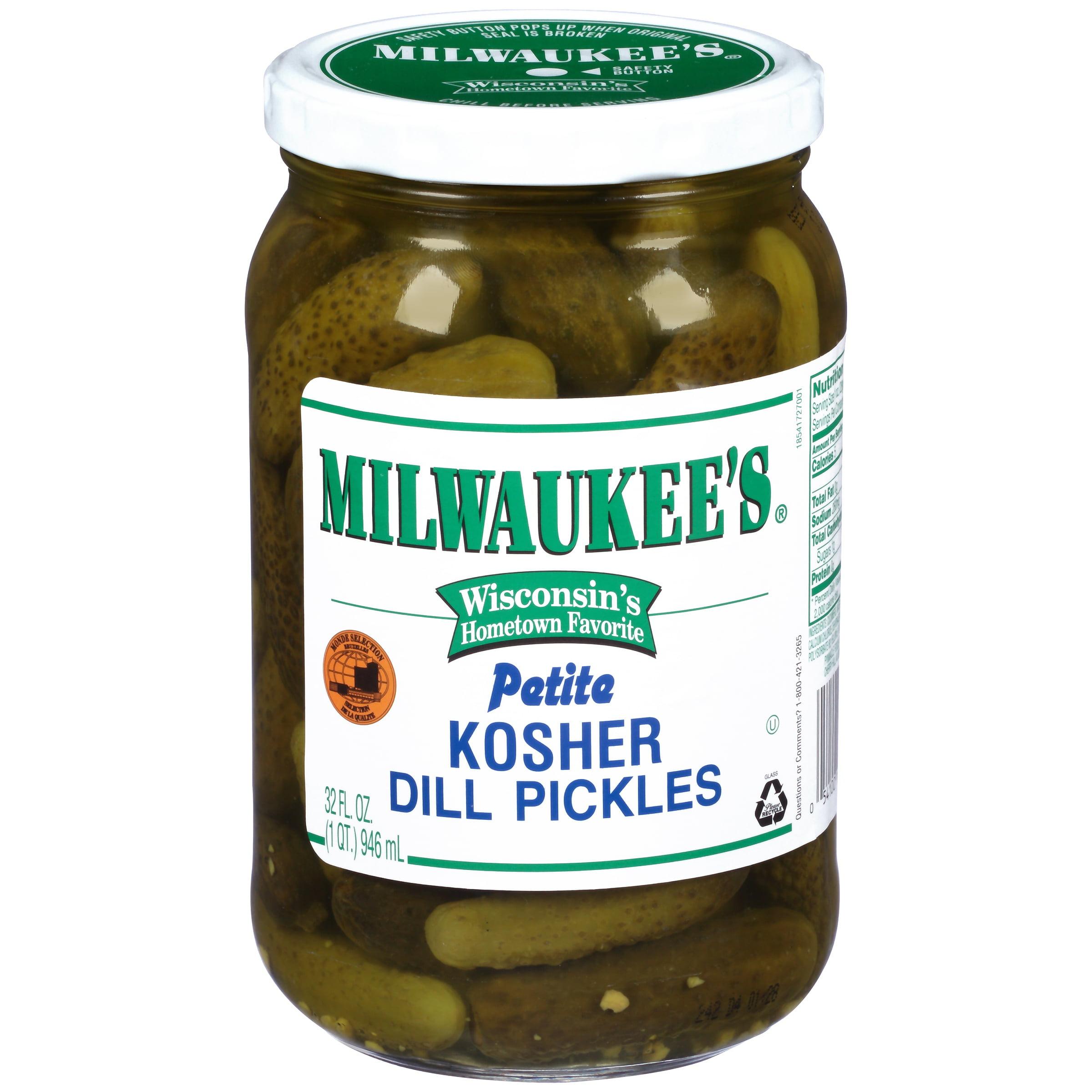 Milwaukee's Dill Pickles Midget Kosher, 32 fl oz by Pinnacle Foods Group LLC