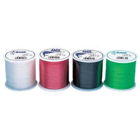 Ande Monofilament Line (Clear, 20 -Pounds test, 1/4# spool) Multi-Colored