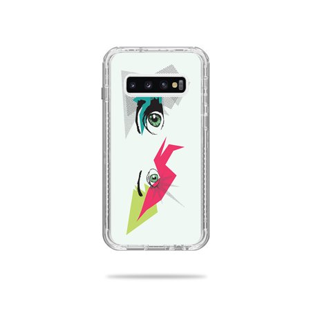 Skin For Lifeproof Next Case Samsung Galaxy S10 - Crazy Eyes | MightySkins Protective, Durable, and Unique Vinyl Decal wrap cover | Easy To Apply, Remove, and Change (S10 Crank)