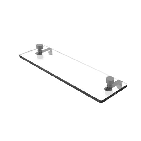 Foxtrot 16 Inch Glass Vanity Shelf with Beveled Edges