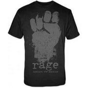 FEA FEA-RG103-M Rage Against the Machine Fist T-Shirt - Black - Medium