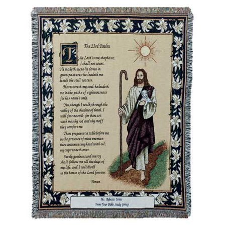 Simply Home 23rd Psalm Tapestry Throw - 23rd Psalm Throw