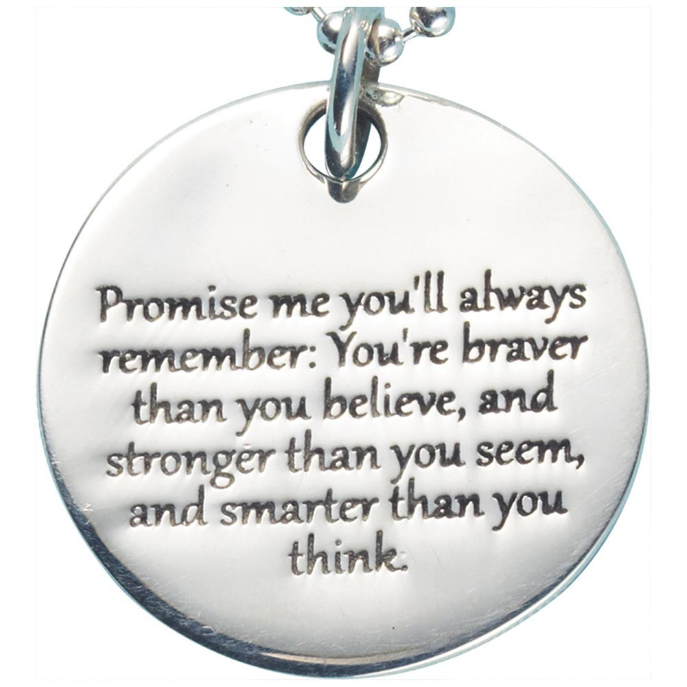 Womens promise me christopher robin quote pendant sterling silver womens promise me christopher robin quote pendant sterling silver engraved necklace walmart aloadofball Choice Image