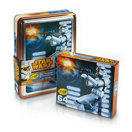 Edition Wax (Crayola Star Wars 64 Count Limited Edition Crayons Classic And Glitter With Collectible Crayon Tin, Storm Trooper Gift Set )