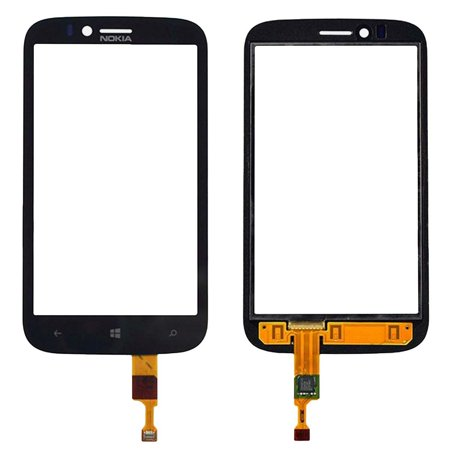 Black Front Touch Screen Display Digitizer Repair Replacement For Nokia Lumia 822