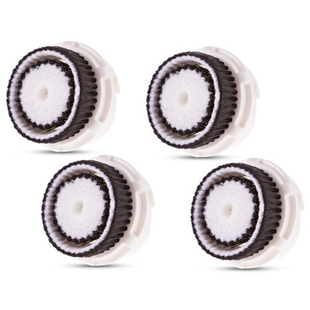 Clarisonic Compatible Replacement Brush Heads for Sensitive Skin Works with Mia, Mia 2, Mia 3, Aria, Pro, PLUS, Smart Profile, Alpha Fit and Radiance Face Cleansing Systems, 4 Refills